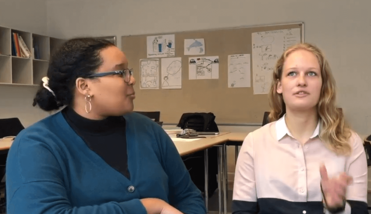 Interview med Caroline og Salwa