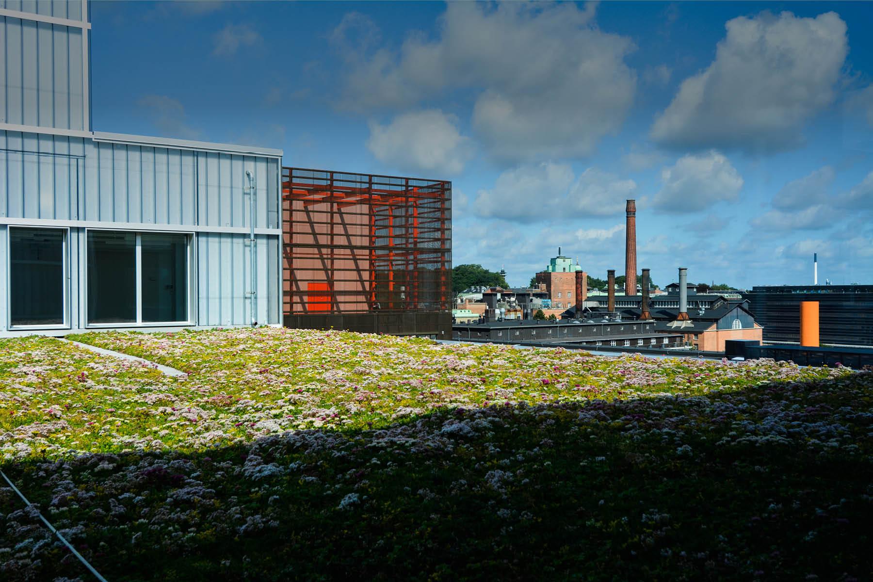 Fra tagterrasserne på Campus Carlsberg er der udsigt udover hele Carlsbergbyen