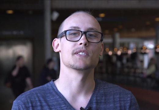 Studerende fra Natur- og kulturformidler interviewes om uddannelsen