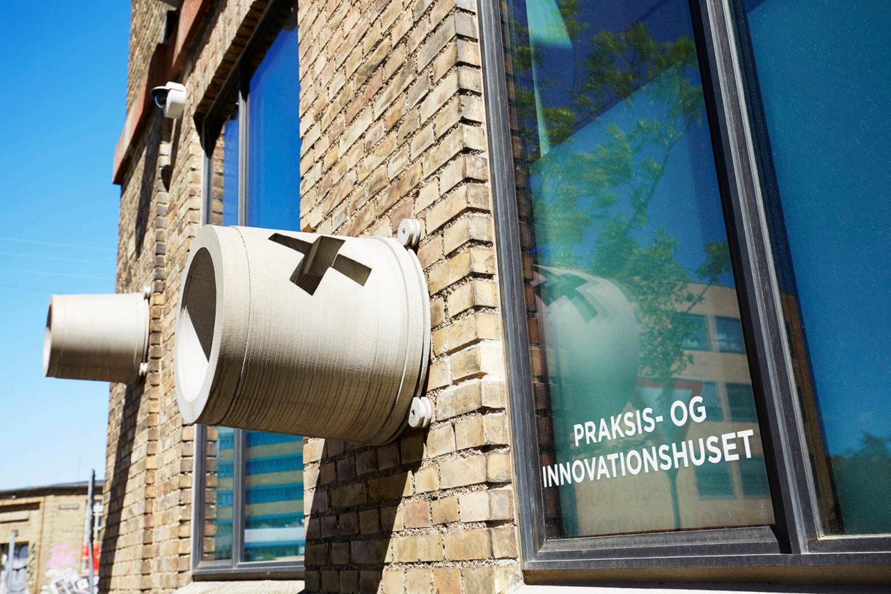 Facaden på Praksis- og Innovationshuset